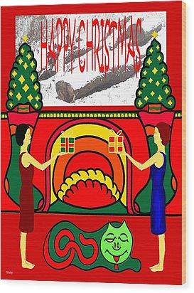 Happy Christmas 32 Wood Print by Patrick J Murphy