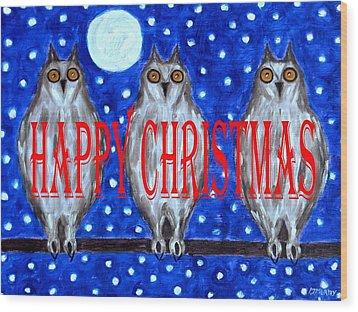 Happy Christmas 94 Wood Print by Patrick J Murphy