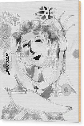 Happy Dance Wood Print by Elaine Lanoue