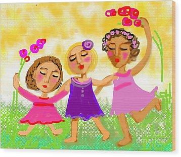 Happy Days Wood Print by Elaine Lanoue
