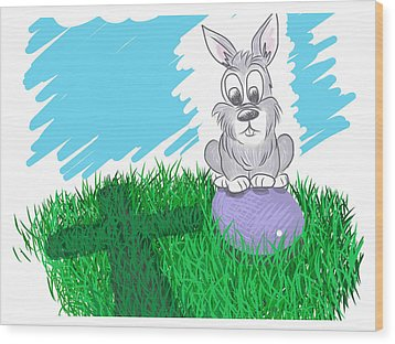 Happy Easter Wood Print by Antonio Romero