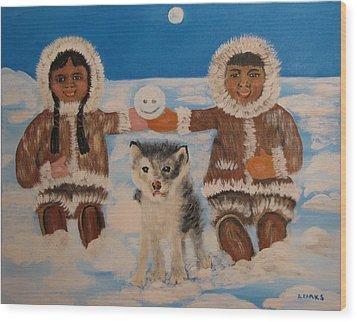 Happy Eskimo's Wood Print