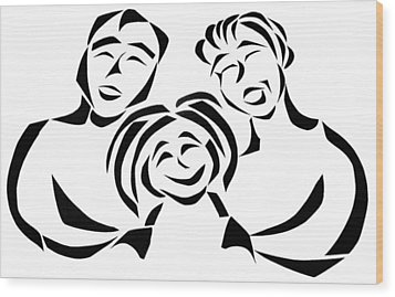 Happy Family Wood Print