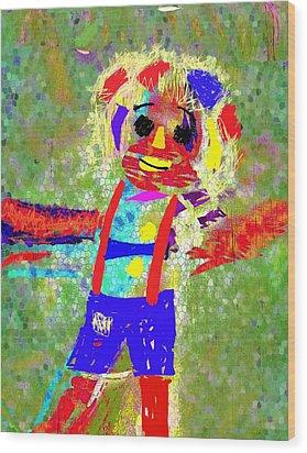 Happy Go Lucky Wood Print by Mimo Krouzian