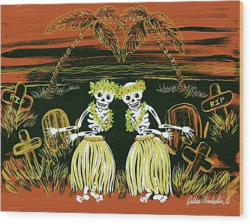 Happy Halloween Dance Wood Print