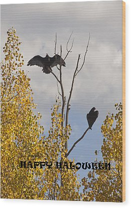 Wood Print featuring the photograph Happy Halloween by Daniel Hebard