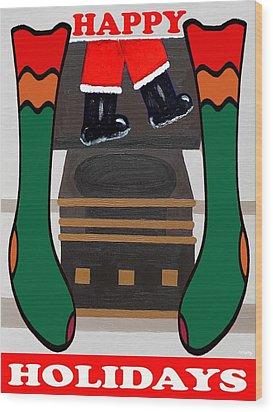 Happy Holidays 4 Wood Print by Patrick J Murphy