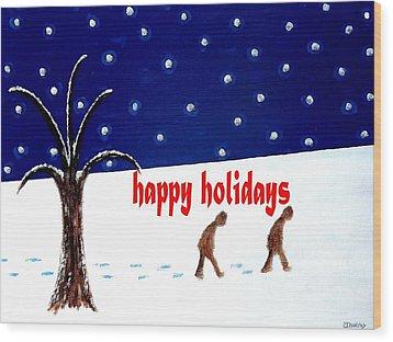Happy Holidays 5 Wood Print by Patrick J Murphy