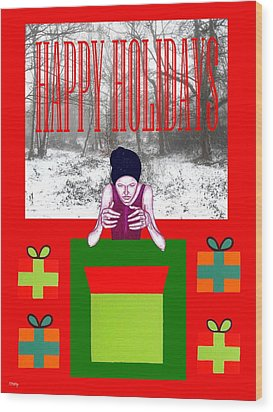 Happy Holidays 63 Wood Print by Patrick J Murphy