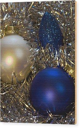 Happy Holidays Card 02 Wood Print by Karen Musick