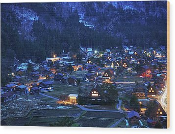 Wood Print featuring the photograph Happy Holidays From Japan by Peter Thoeny