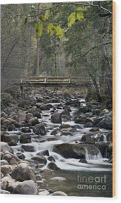 Happy Isle Yosemite Wood Print