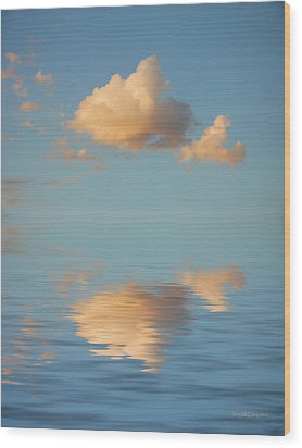 Happy Little Cloud Wood Print by Jerry McElroy
