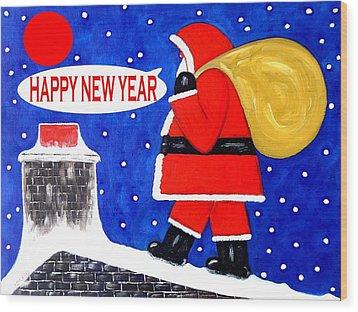 Happy New Year 48 Wood Print by Patrick J Murphy