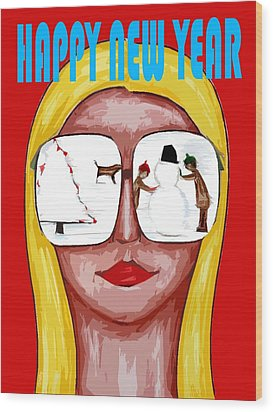 Happy New Year 51 Wood Print by Patrick J Murphy