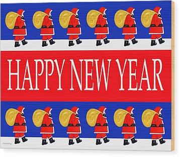 Happy New Year 7 Wood Print by Patrick J Murphy