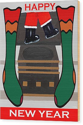 Happy New Year 8 Wood Print by Patrick J Murphy