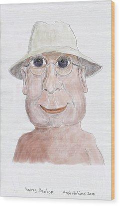Happy Senior Wood Print by Fred Jinkins
