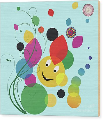 Happy Spring Image Wood Print by Heinz G Mielke