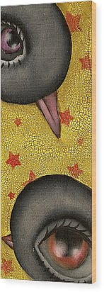 Happy To See You Wood Print by  Abril Andrade Griffith