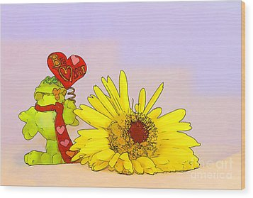Wood Print featuring the photograph Happy Valentine's Day by Teresa Zieba