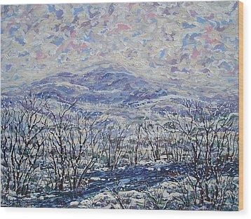 Happy Winter. Wood Print