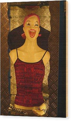 Happy World Wood Print by Jez C Self