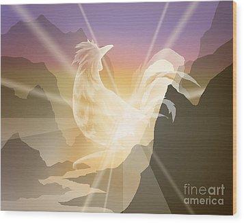 Harbinger Of Light Wood Print by Alice Chen