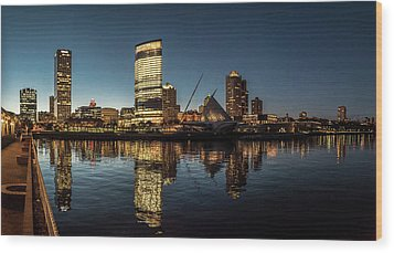 Wood Print featuring the photograph Harbor House View by Randy Scherkenbach