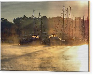 Wood Print featuring the photograph Harbor Mist by Brian Wallace