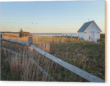 Harbor Shed Wood Print by Bill Wakeley