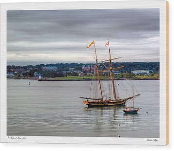 Wood Print featuring the photograph Harbor Ships by Richard Bean