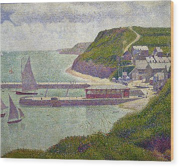Harbour At Port En Bessin At High Tide Wood Print by Georges Pierre Seurat