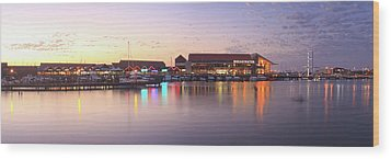 Wood Print featuring the photograph Harbour Lights, Hillarys Boat Harbour by Dave Catley