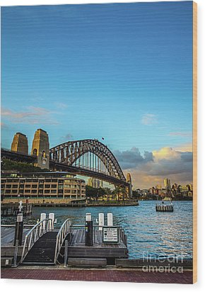 Wood Print featuring the photograph Harbour Sky by Perry Webster
