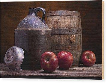 Hard Cider Still Life Wood Print by Tom Mc Nemar