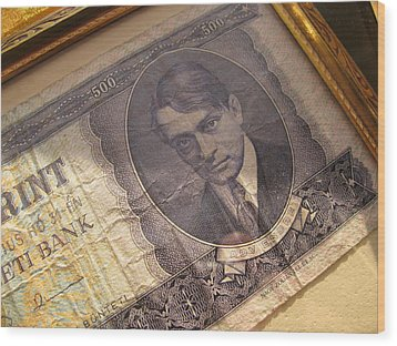 Wood Print featuring the photograph Hard Currency by Lindie Racz