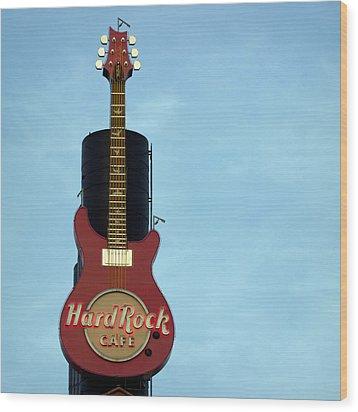 Hard Rock Cafe Wood Print by Joseph Skompski