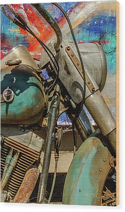 Wood Print featuring the photograph Harley Davidson - American Icon II by Bill Gallagher