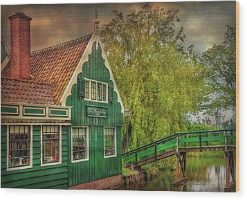 Wood Print featuring the photograph Haremakerij At The Brook by Hanny Heim