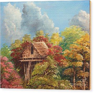 Hariet Wood Print by Jason Sentuf