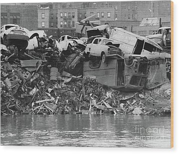 Harlem River Junkyard, 1967 Wood Print by Cole Thompson