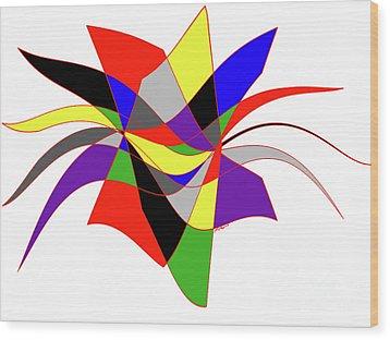 Harlequin Flower Wood Print