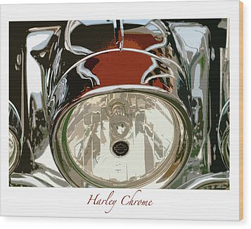 Harley Chrome Wood Print