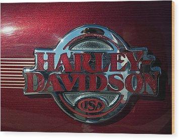 Harley Davidson 12 Wood Print