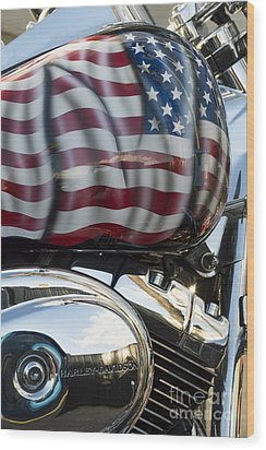 Harley Davidson 7 Wood Print by Wendy Wilton