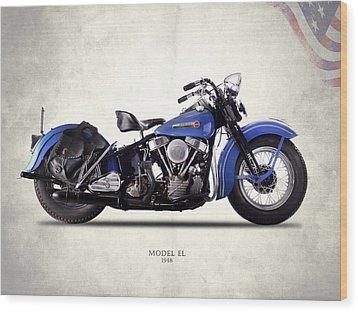 Harley-davidson El 1948 Wood Print