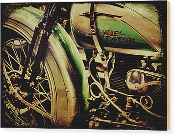 Wood Print featuring the photograph Harley Davidson by Joel Witmeyer