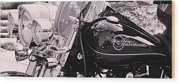 Harley Davidson Road King  Motorcycle Wood Print by Lisa  DiFruscio