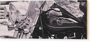 Harley Davidson Road King  Motorcycle Wood Print